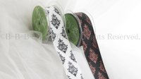 May arts ribbon 1.5 Inch Single Faced Satin Damask Print Ribbon m単位