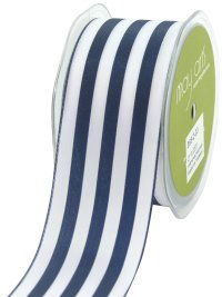 25%OFF May Arts 2-Inch Wide Ribbon, Navy and White Stripe m単位