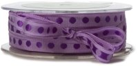 May Arts 3/8-Inch Wide Ribbon,  LAVEBDER/PURPLE Dots  m単位