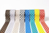 Mayarts Ribbon ☆ 1.5 Inch Linen Lattice Print Ribbon 8色 1m〜m単位